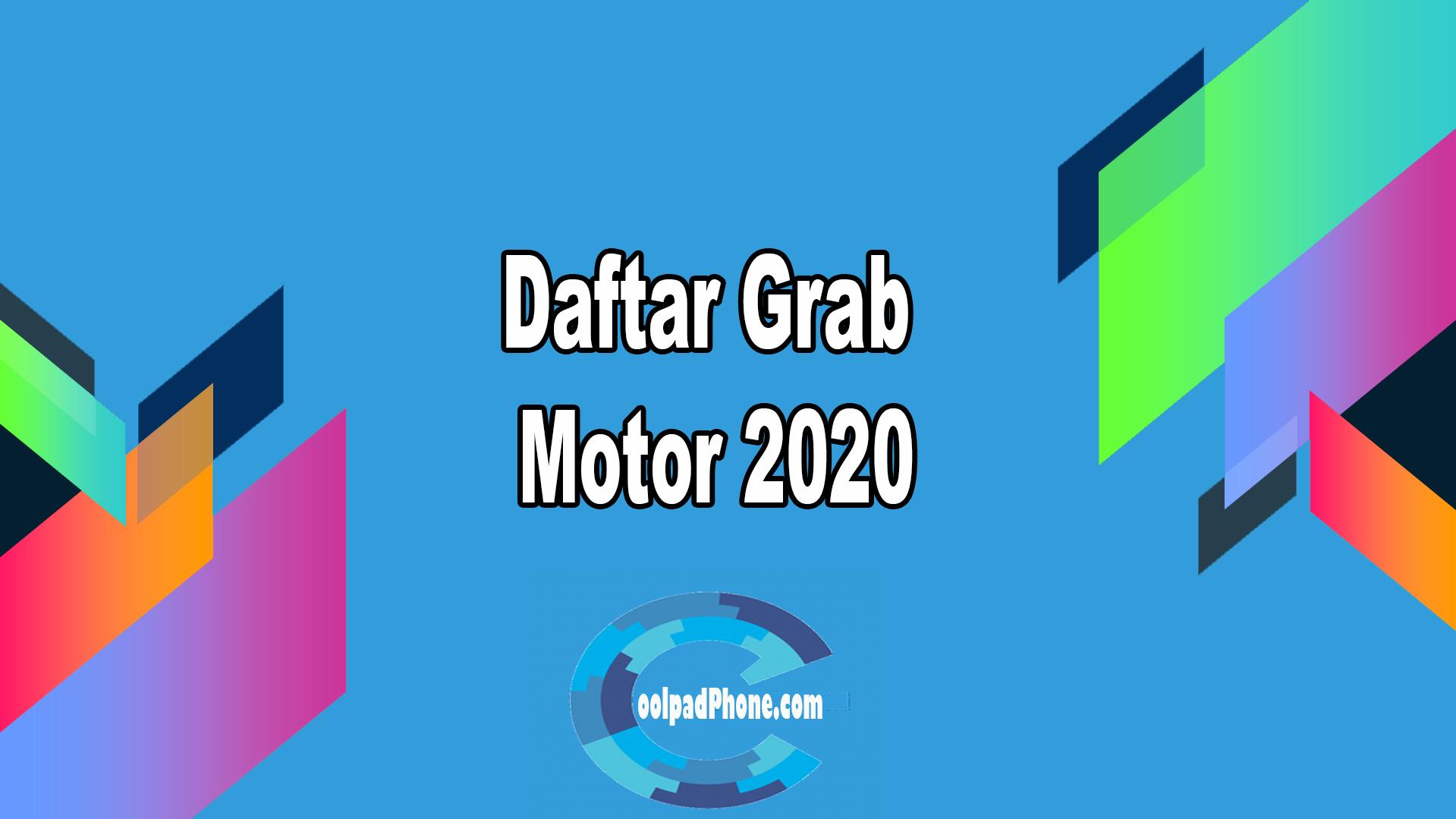 Daftar Grab Motor 2020