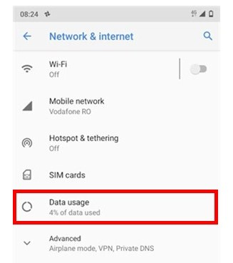 Access Data usage
