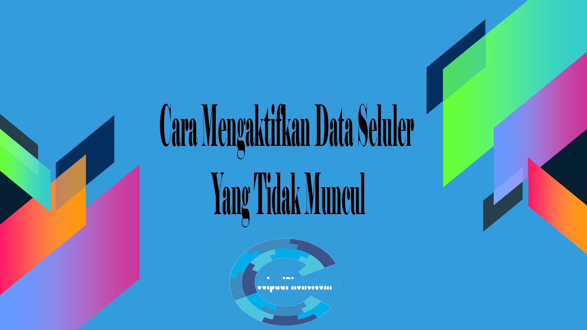 Cara Mengaktifkan Data Seluler Yang Tidak Muncul