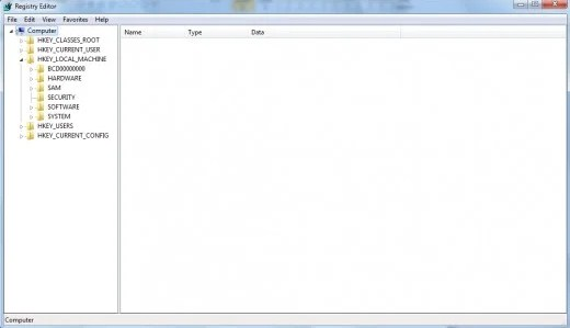 Folder HKEY_LOCAL_MACHINE di Registry