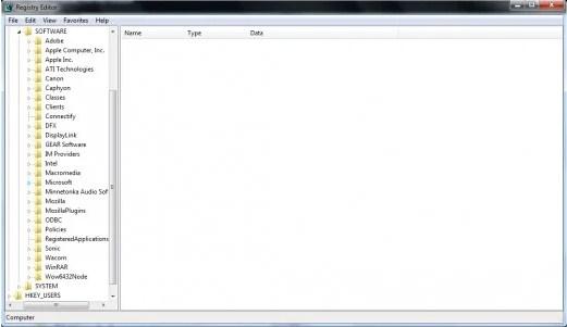 Folder Microsoft (ditandai dengan penanda biru).