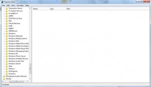 Folder Windows (ditunjukkan dengan penanda biru).