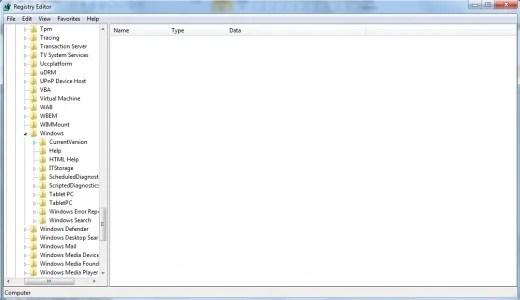 Versi saat ini (pertama di bawah Windows, ditandai dengan penanda biru).