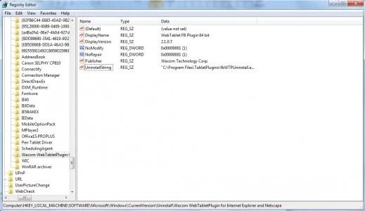 Copot pemasangan folder di Windows Registry.