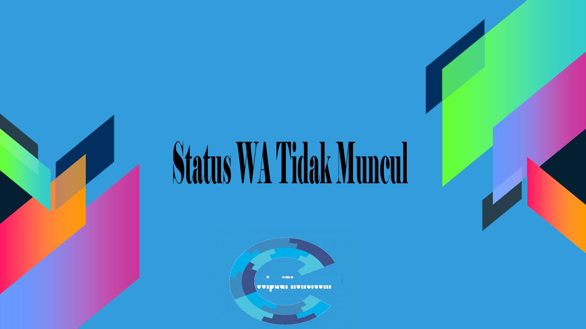 Status WA Tidak Muncul
